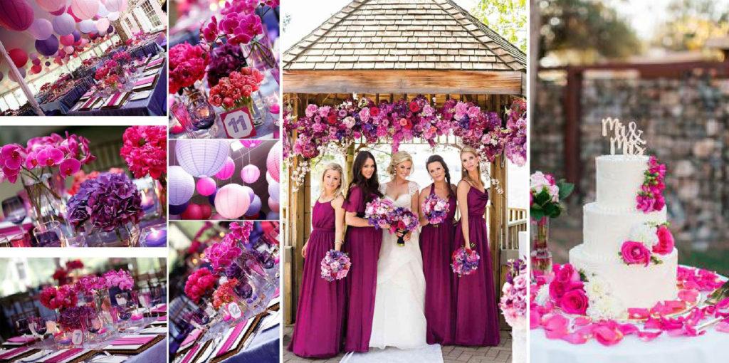 JOrganise - wedding planner et organisation d'évènements - Hauts de France - Nord - Pas-de-Calais - Mariage - Décoration color block Fushia